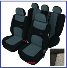 Grey/Black Sport Line Tailored Full Set Seat Car Covers Seat Leon Mk3 2012 - on