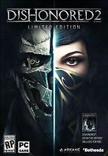 Dishonored 2 Limited Edition - PC DVD Disc First Person Open World Brand New A+