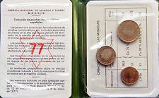 JUAN CARLOS I CARTERITA FNMT PRUEBAS NUMISMATICAS 3 MONEDAS 1975 *77