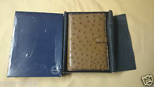 New Filofax Ostrich Original Vintage Accessories Box Personal Organizer Brown