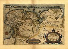 Ortelius Frisia Friesland Holland Netherlands Reproduction Antique Old Map NEW
