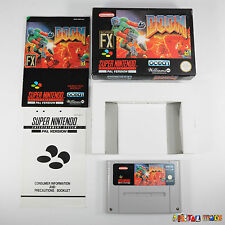 Doom - BOXED WITH MANUAL - MINT COND - COLLECTORS - Super Nintendo SNES Game PAL