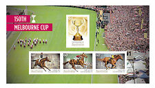 Australia Stamps 2010 150th Melbourne Cup IMPERFORATE Minisheet Centre MUH