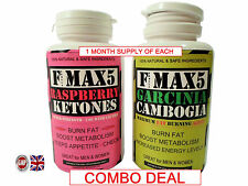 RASPBERRY KETONES PLUS GARCINIA CAMBOGIA DIET WEIGHT LOSS SLIMMING PILLS MAX5 B4