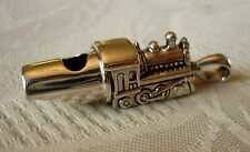 Solid sterling silver TRAIN ENGINE WHISTLE