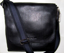 New Coach F72108 Men's Sullivan Small Messenger Bag Black Leather NWT $375