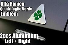 2x metallo Alfa Romeo Quadrifoglio verde Delta 147 156 159 Mito Giulietta GT