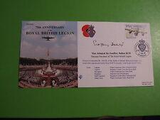 BRITISH LEGION 75th ANNIVERSARY FDC COVER SIGNED VICE ADMIRAL SIR G DALTON KCB
