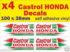 x4 Castrol racing oil rally race bike decals car van bus truck mini sticker dub