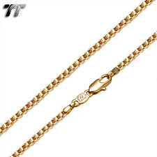 TTstyle Gold Filled Box Chain Necklace Width 0.8-2.5mm Length 35-70cm 3 Colours