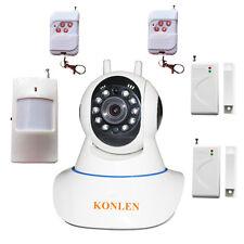 Wifi Alarm System Video IP Camera Home Security with Burglar Wireless Sensors