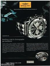 PUBLICITE ADVERTISING 095 2009  BREITLING   montre CHRONOGRAPH  B01