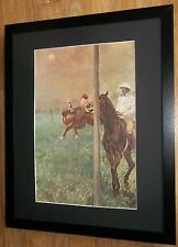 Jockeys before the Race by Degas, 20''x16'' frame, Masters paintings