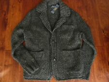 NWT $695 POLO RALPH LAUREN HAND KNIT WOOL CARDIGAN SWEATER SZ S