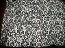 Mini Black White Damask paisley fabric window curtain topper Valance