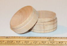 Small Round Raw Unfinished Wood Scrapbooking Ring Keepsake Pill Box with Lid
