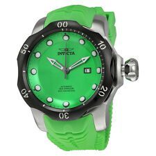 Invicta Venom Automatic Green Dial Green Silicone Strap Mens Watch 19307
