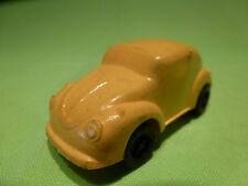 VINYL GUMMY PLASTIC VW VOLKSWAGEN BEETLE KAFER YELLOW 1/70? - GOOD CONDITION