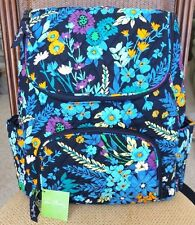 VERA BRADLEY DOUBLE ZIP BACKPACK Book Bag MIDNIGHT BLUES is Brand New with Tag