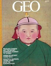 GEO Magazine Priceless Chinese Art The Secret Desperate Journey Cover Sept 1983