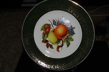 """Wood & Sons Enoch 10"""" display plate, with gold overlay trim"""