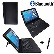 "10.1"" Case German Keyboard Bluetooth For Vodafone Tab Prime 7 - Black"