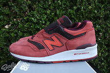 NEW BALANCE 997 SZ 10.5 MADE IN USA CLAY RED BURGUNDY M997DTAG