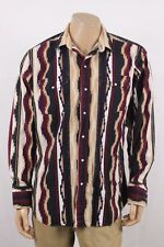 Panhandle Slim Western/Aztec Style Long Sleeve Shirt Size Large L Black/Tan