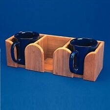 Teak 3 Mug Storage Holder for Below Deck / Galley 16-3712 (Boat/Marine/Yacht)