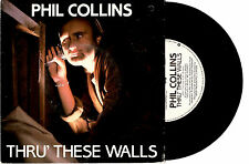 """PHIL COLLINS - THRU' THESE WALLS / DO YOU KNOW - 7"""" 45 VINYL RECORD PIC SLV 1982"""