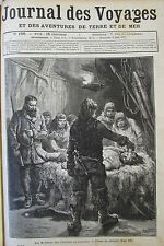 JOURNAL DES VOYAGES N° 100 de 1879 CADAVRE HUTTE INDIEN / CHATEAU CLISSON FRANCE
