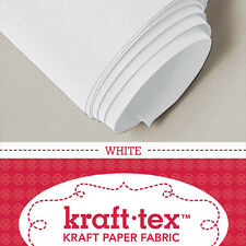 "KRAFT-TEX ROLL, WHITE, 19"" X 54"" Washable, Sewable, Leather-Like, Heavy Paper"