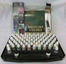 Vallejo BNIB AV Model Color Military Set (72 colours/3 brushes/case) VAL70173