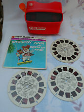 View-Master Red Retro Vintage GAF Collectible - Raggedy Ann View-Master Reel set