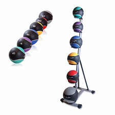 CAP Barbell Medicine Ball Set with Spinal Rack Cardio Exercise Home Core Workout