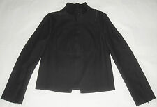 CoSTUME NATIONAL Made in Italy black jacket giacca giubbotto donna panno nero 42
