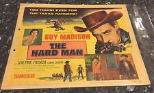 THE HARD MAN, GUY MADISON, LORNE GREEN, VALERIE FRENCH, 8 LOBBY CARDS