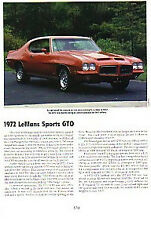 1972 Pontiac GTO Article - Must See !!