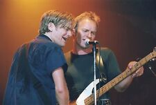 BRIAN ADAMS & STING PHOTO 1995 UNIQUE IMAGE UNRELEASED LONDON HUGE 12 INCH RARE