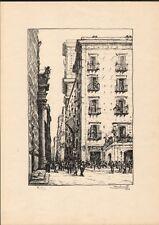 NAPOLI. Piazza del Gesù.... Litografia, anno 1924, di A. Carbonati (1893 - 1956)