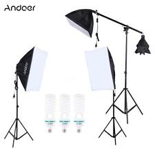 Photograpy Studio Softbox Boom Stand Continuous Lighting Video Light Kit B1N6