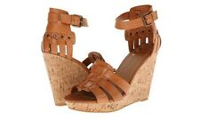 New DV by Dolce Vita Cadby Honey Womens Wedges Leather Sandals Shoes Size 9