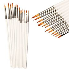 12 Pcs Brush Kit Oil Acrylic Watercolor Paint Artist Painting Brushes Set MX