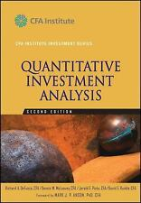 CFA Institute Investment: Quantitative Investment Analysis 2 by Dennis W....