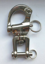 "Free US post 2.7"" 316# Stainless steel swivel snap shackle sailing boat Yacht"