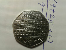 0.5 pound,Royal Mint,Benjamin Britten Blow Bugle Blow 50 Pence Coin 2013,rare