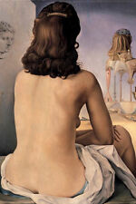 Framed Print - Salvador Dali My Nude Wife (Surrealist Painting Picture Poster)
