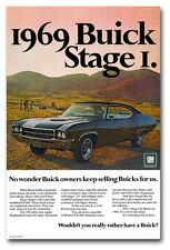 13x19 1969 Buick Stage I GS400 Poster Garage Man Cave Ad Art GS 400 '69 1 2 GSX