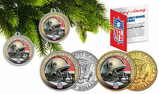 NEW ORLEANS SAINTS Christmas Tree Ornaments JFK Half Dollar US 2-Coin Set NFL