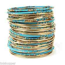 NWT Amrita Singh Marrakech Fashion Jewelry Boho Bangle Bracelet 34 Piece Stack